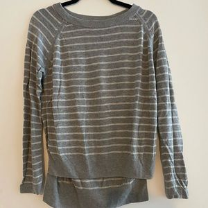 Lululemon Grey Striped Sweater